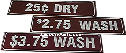 Z $0.75 WASH DECAL - BROWN