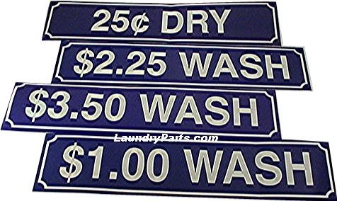 Z $0.75 WASH DECAL - BLUE