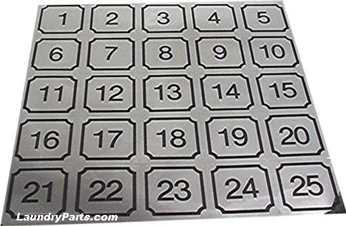 26-50 NUMBER DECALS