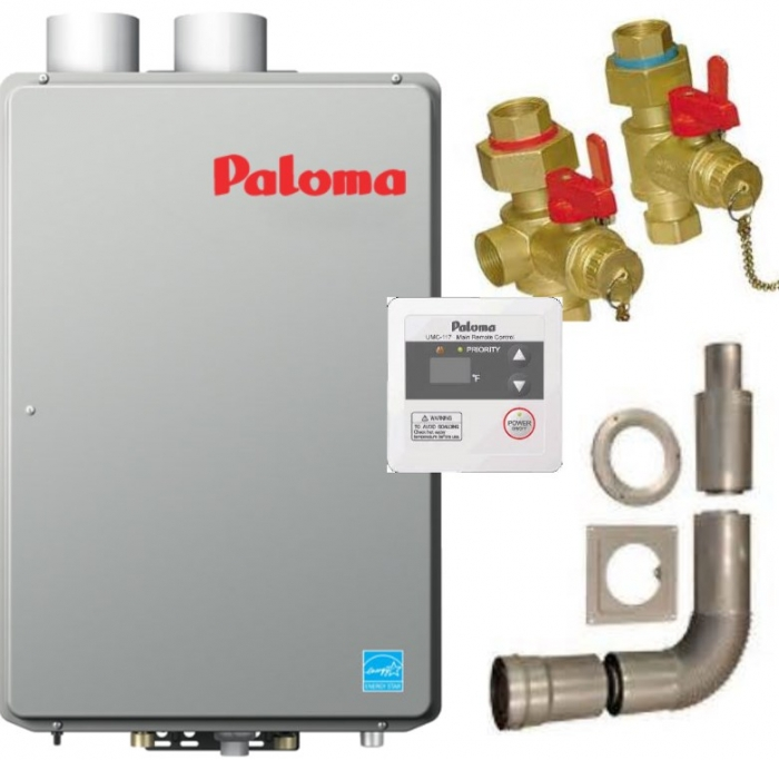 PALOMA HI EFF TANKLESS WATER HEATER PACKAGE