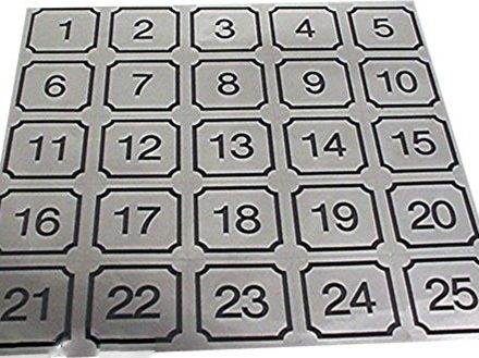 Laundry Stickers & Decals Number Decals Individual (26-50) #Z-2650-DECAL
