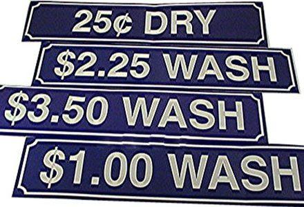 Laundry Stickers & Decals Wash Decal Blue $2.00 #Z-200WASH-BLU