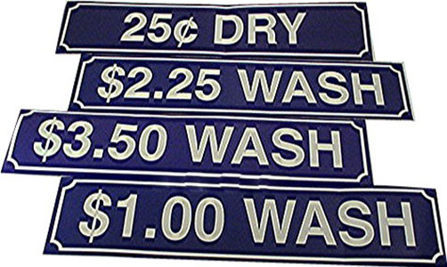 Laundry Stickers & Decals Wash Decal Blue $2.00 #Z-200WASH-BLU