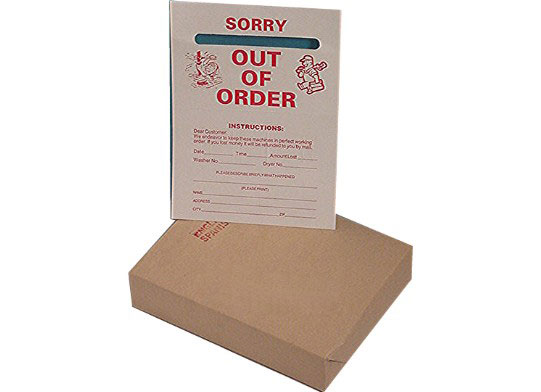 Specialty Laundromat Products Out Of Order Tags – Red #OUTRD